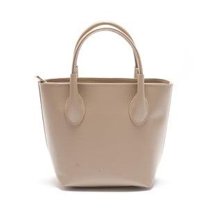 Béžová kožená kabelka Mangotti Axilaris