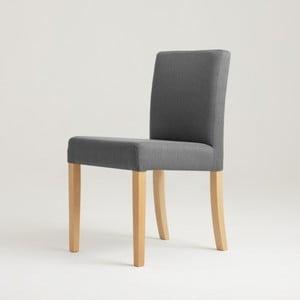 Stredne sivá stolička s prírodnými nohami Custom Form Wilton