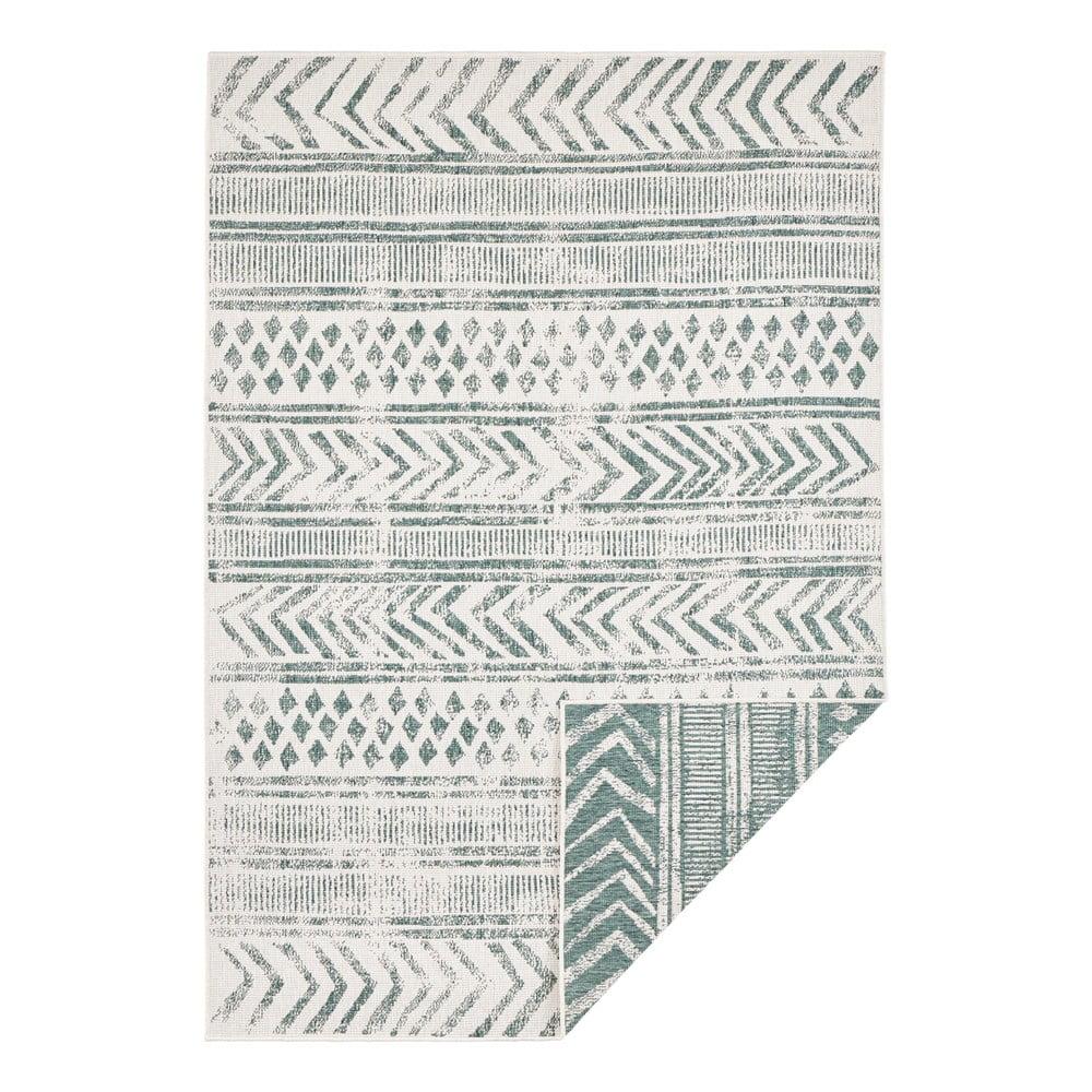 Zeleno-krémový vonkajší koberec Bougari Biri, 160 x 230 cm