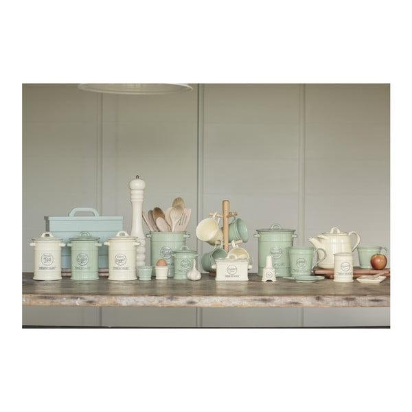 Zelená porcelánová dóza na soľ T&G Woodware Pride of Place