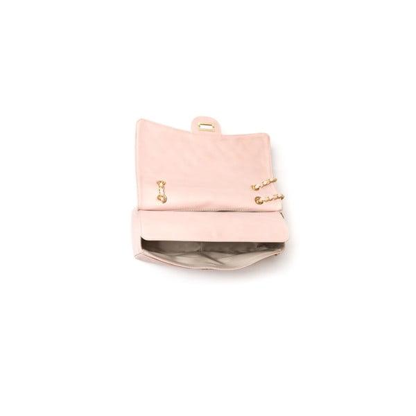 Kožená kabelka Casla, ružová
