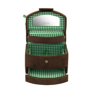 Šperkovnica Bagvaria Brown/Green, 16x13x11,5 cm