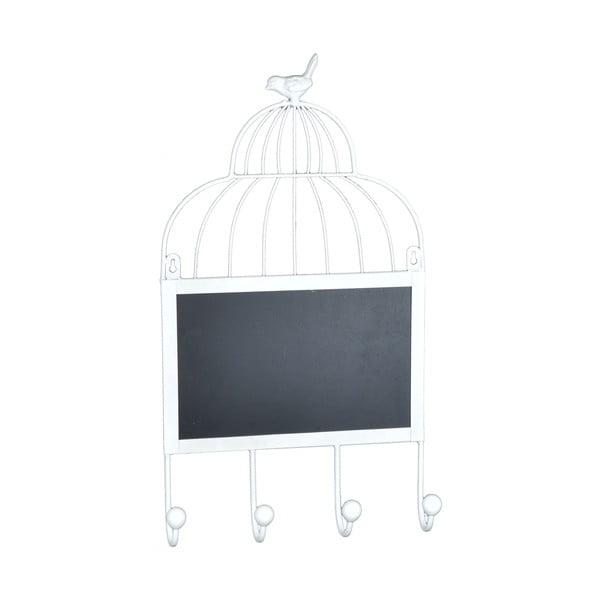 Závesné háčiky s tabuľou Biely vtáčik