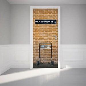 Adhezívna samolepka na dvere Ambiance Harry Potter Platform, 83 x 204 cm