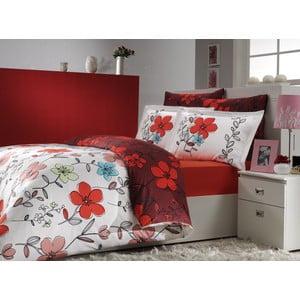 Obliečky s plachtou Jardin Red, 200x220 cm