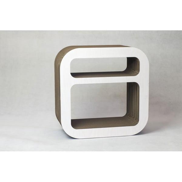 Kartonový nočný stolík/polica Kartoons, biela