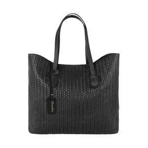 Čierna kožená kabelka Maison Bag Ginnie