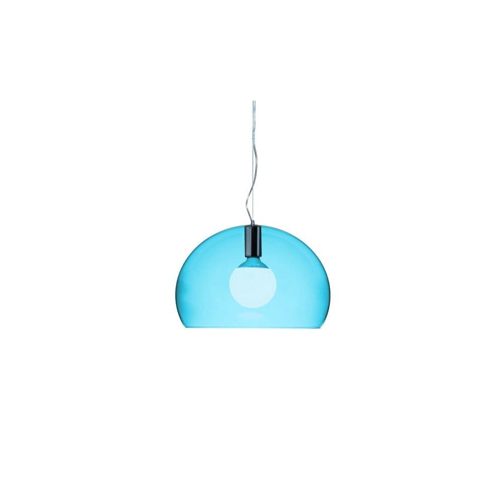Menšie modré stropné svietidlo Kartell Fly