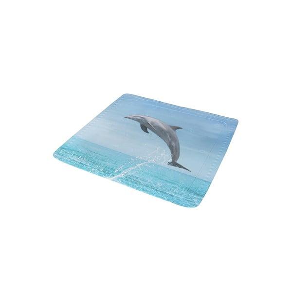 Kúpeľňová predložka Delfin Blue, 55x55 cm