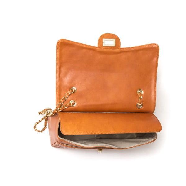 Koňakoo hnedá kožená kabelka Isabella Rhea Julietta