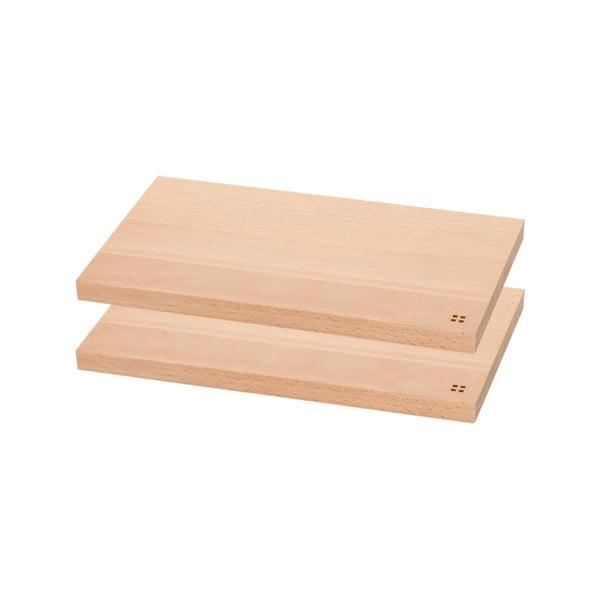 Sada 2 drevených dosiek Sola Basic Wood, 26,5x15,5cm