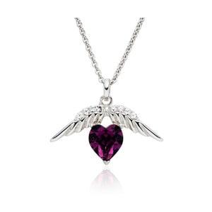 Náhrdelník so Swarovski Elements Heart Prong Violet