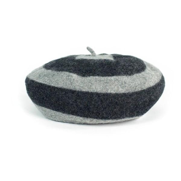 Sivý pruhovaný baret Melina