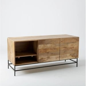 TV komoda z masívneho mangového dreva Massive Home Jenny, 130 x 60 cm