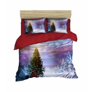 Vianočné obliečky na dvojlôžko s plachtou Oscar, 200×220 cm