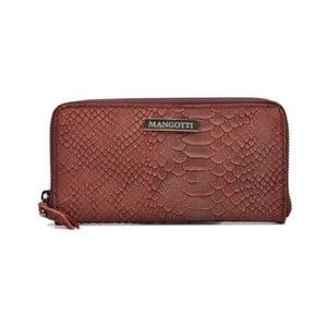 Červená kožená listová kabelka Mangotti Murielle
