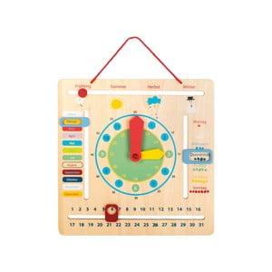 Detské drevené edukatívne hodiny s ročnými obdobiami Legler Seasons