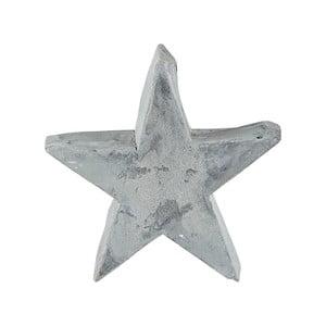 Sivá dekoratívna cementová soška KJ Collection Christmas Star, výška 9,5 cm