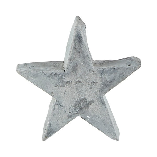 Sivá dekoratívna soška KJ Collection Christmas Star, 9,5 cm