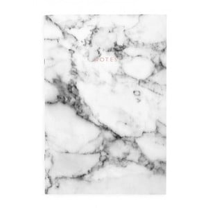 Biely zápisník Ohh Deer Marble, 44 stránok