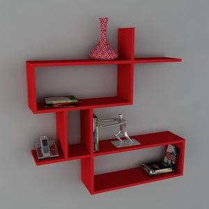 Polica Montera Book Red, 22x100x107,2 cm