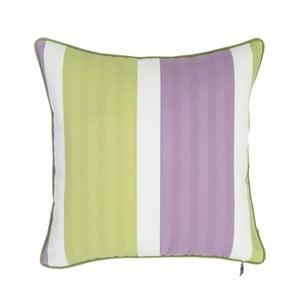 Zeleno-fialový polštář Apolena Stripes, 43×43cm