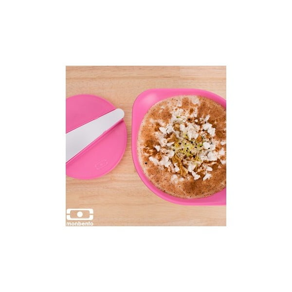 Bielo-ružová dóza na šaláty a polievky Monbento MB LIB Pink/White