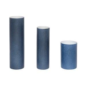 Sada 3 modrých váz Hübsch Tycho