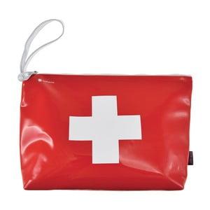 Červeno-biela taštička na zips Incidence Cross