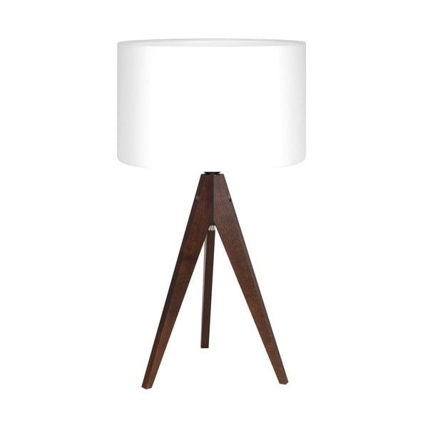 Stolná lampa Artist White/Brown, 40x33 cm