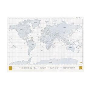 Stieracia mapa sveta Clear Scratch