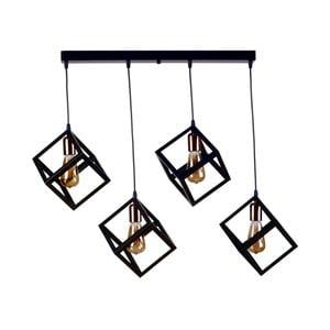Stropné závesné svietidlo Rectangularo, 4 žiarovky