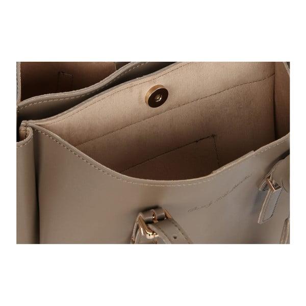 Sivohnedá kabelka z eko kože Beverly Hills Polo Club Alicia