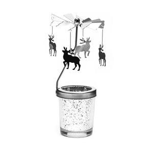 Stojan na čajovú sviečku so železnou otočnou dekoráciou Just Mustard Moose