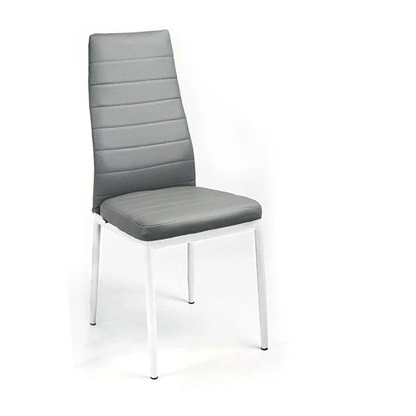 Jedálenská stolička Queen, biela/sivá