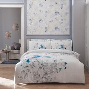 Obliečky s plachtou Simple White with Blue, 160x220 cm