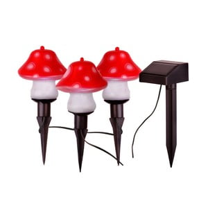 Lampášiky Solar Energy Mushrooms Sticks, 3 ks