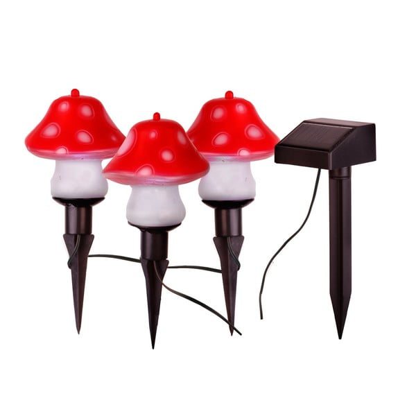 Lampášiky Solar Energy Mushrooms Sticks, 3 ks