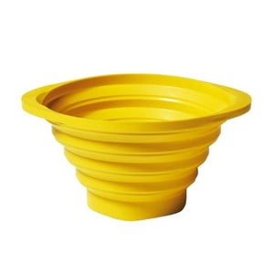 Skladacie cedidlo Strained 23 cm, žltý