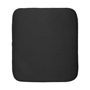 Čierna podložka na umytý riad iDesign iDry, 18×16 cm