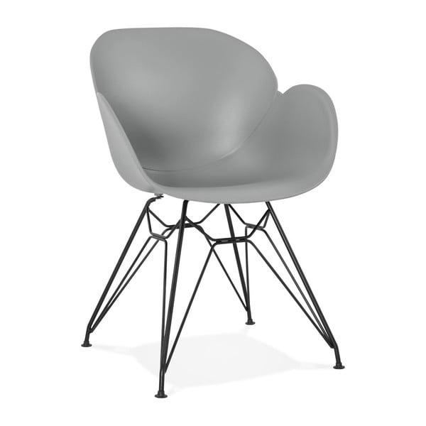 Sivá jedálenská stolička Kokoon Umela