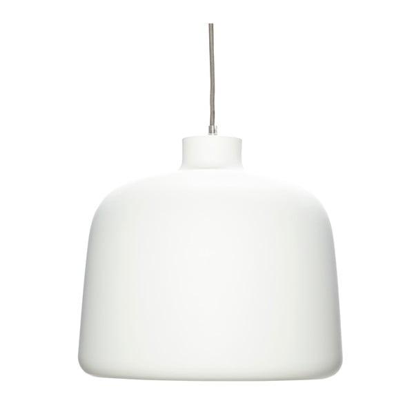 Biele závesné svietidlo Hübsch Muno