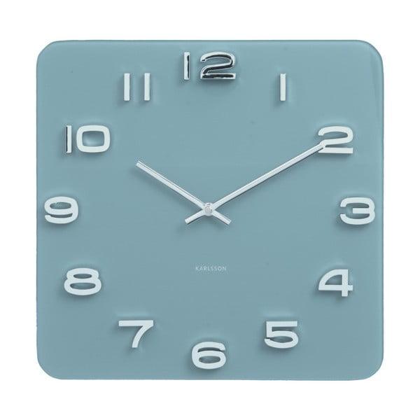 Modré hodiny Karlsson Vintage, 35×35 cm