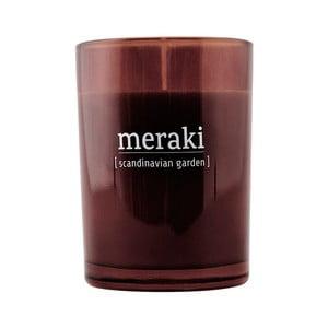 Organická sviečka s vôňou rozkvitnutej záhrady Meraki, dĺžka horenia 35 hodín