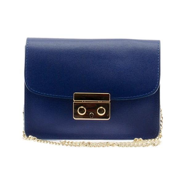 Kožená kabelka Markese 2416 Blue