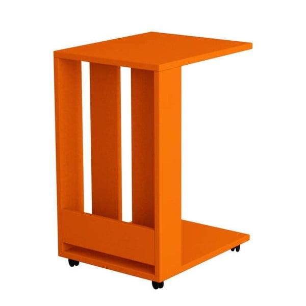Odkladací stolík Edi, oranžový