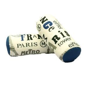 Sada 2 vankúšov s modrým detailom 13Casa Paris