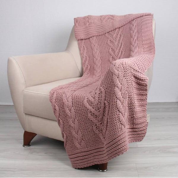 Ružová deka Homemania Tuti, 170 x 130 cm