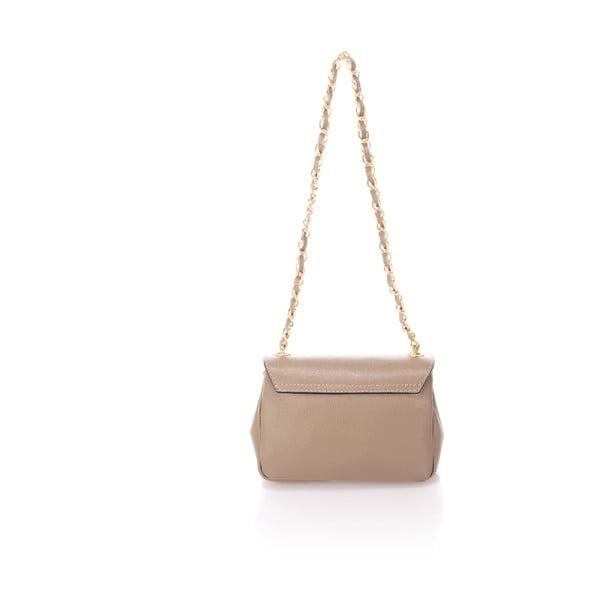 Béžová kožená kabelka s mašlí Giorgio Costa Saffiano