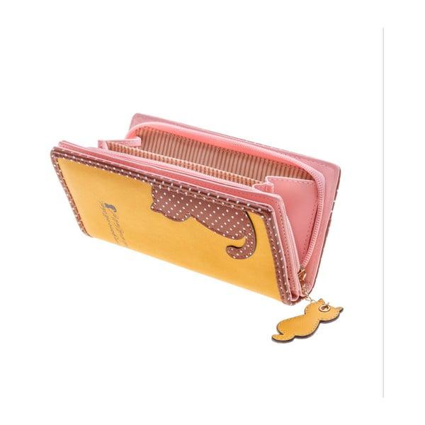 Veľká peňaženka Languo Cat, žltá